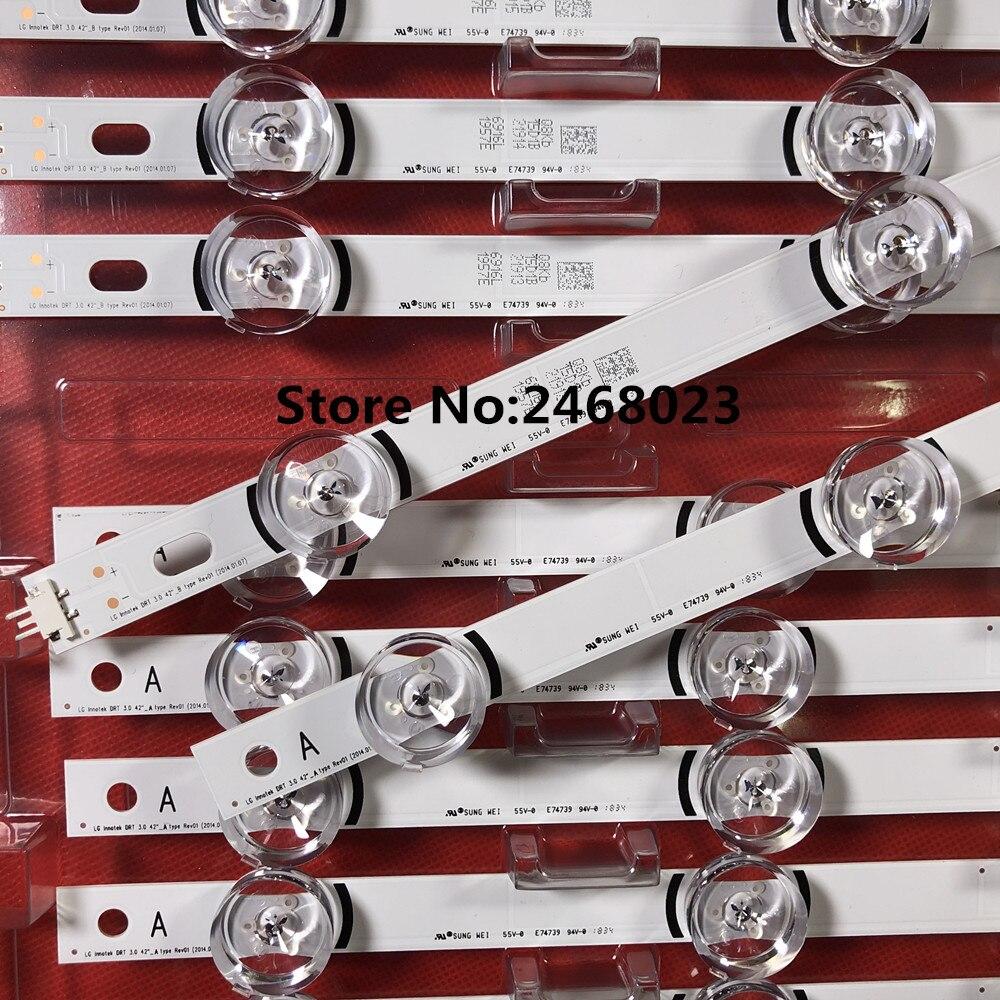 100% NUOVA striscia di Retroilluminazione A LED per LG 42LB5500 42LB570V 42LB580V LC420DUE FG DRT 3.0 42 A/B 6916L- 1709B 6916L-1710B 1956A 1957A100% NUOVA striscia di Retroilluminazione A LED per LG 42LB5500 42LB570V 42LB580V LC420DUE FG DRT 3.0 42 A/B 6916L- 1709B 6916L-1710B 1956A 1957A