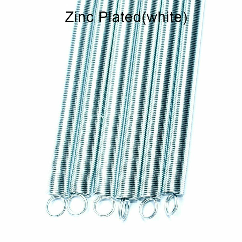 0.8x10x300mm Stainless Steel Small Dual Hook Tension Spring