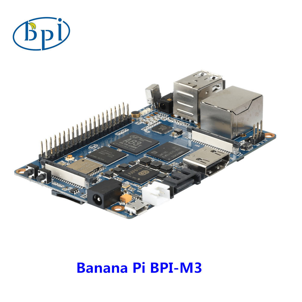Banana Pi M3 Single board computer development board with 8GEMMc WiFi BT module on board