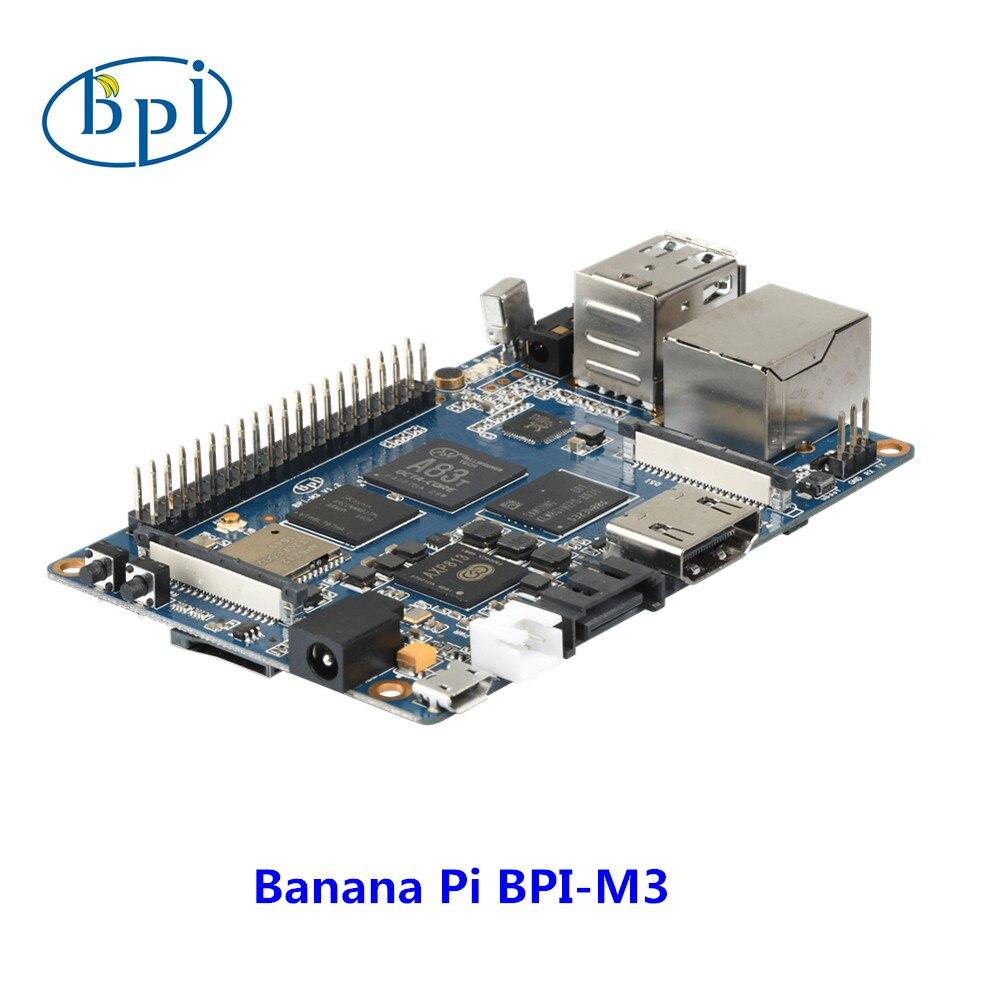 Банан Pi M3 одноплатный компьютер и Совет по развитию с 8 GEMMc, WiFi, BT модуль на борту