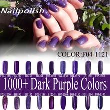 10 ml CAPA de Laca de Uñas de COLOR UV LED Lámpara de Secado Magia Oscura de Color Púrpura Top Coat Base Necesitan Remojo-off
