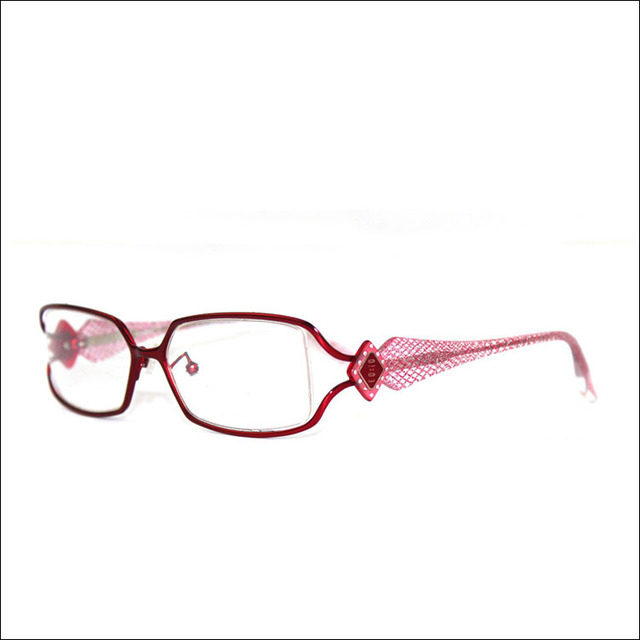Elegant Women Cutout Decorative Pattern Glasses Wine Red Fashion ...