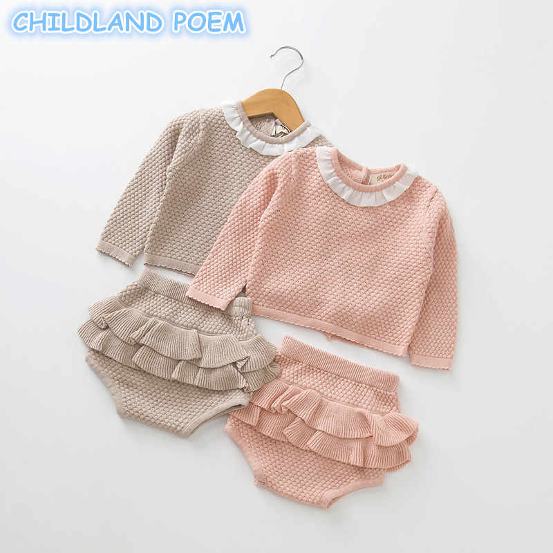 2277ff411a5 Detail Feedback Questions about Baby Girls Boys Clothing set Knitted Newborn  Baby Clothes Sweater + Shorts 2 pcs Outfits Ruffle Spring Winter Toddler  Baby ...
