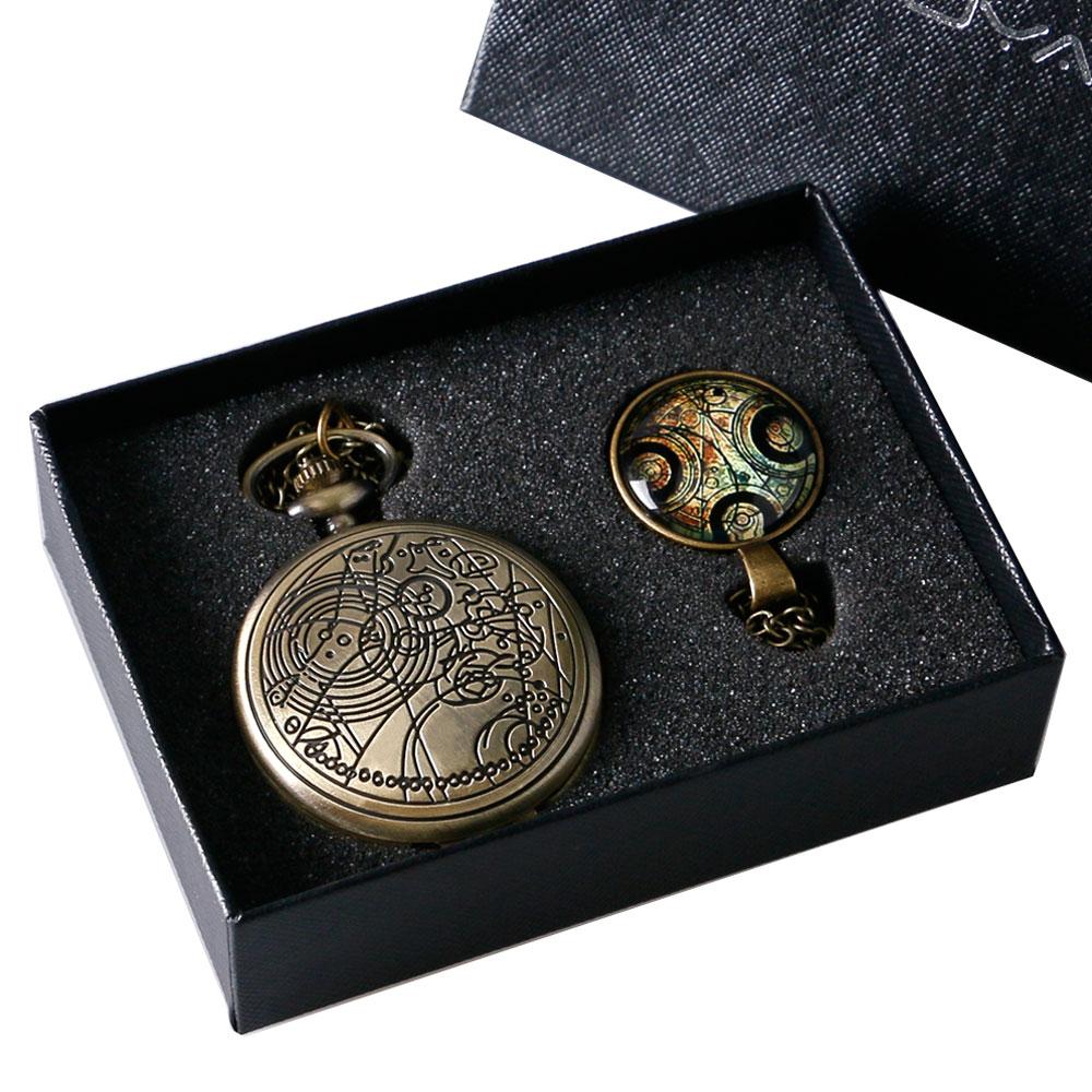 Reloj de bolsillo de cobre Who Who Antique Watch con Doctor Who Dome - Relojes de bolsillo