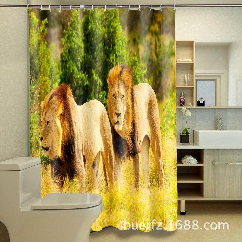 ᗐJungle leeuw 3D afdrukken waterdicht polyester verdikte ...