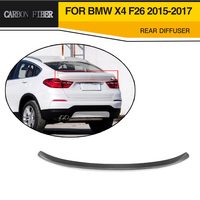 MT Styling Carbon Fiber Car Rear Spoiler Lip Wing for BMW F26 X4 2015 2017