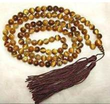 Tibetaanse 108 Tiger Eye Gebed Boeddha Kralen Ketting 8mm(China)
