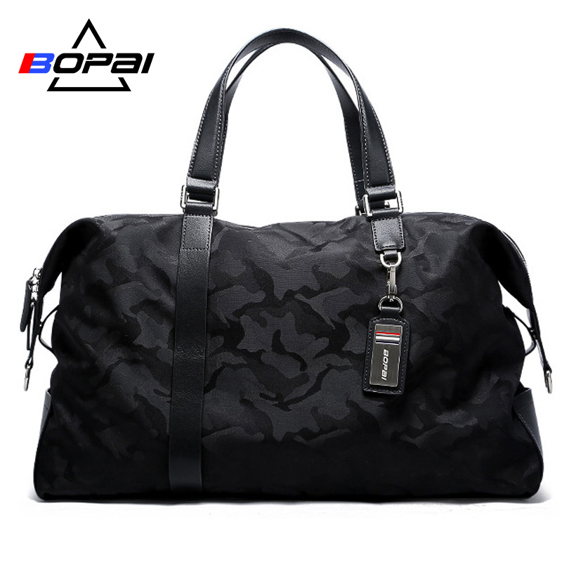 BOPAI Travel Bag Large Capacity Luggage Bag Business Multifunctional Men Weekend Duffle Handbag Tote Crossbody TravelBag 2 Size