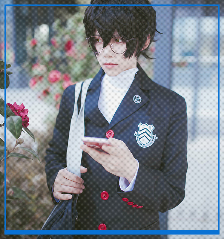 Japanese Anime Game Persona 5 Amamiya Ren joker School Uniform Suit Party Cosplay Costumes Clothes Unisex Full Sets