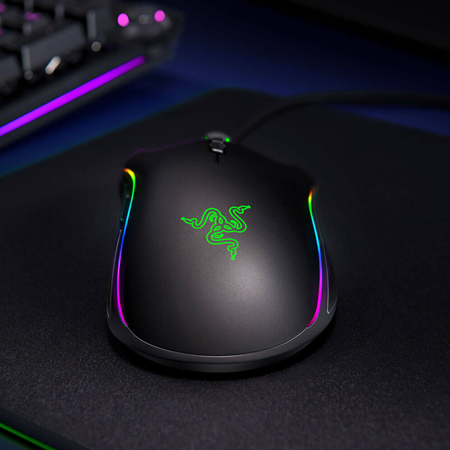 Original Razer Mamba Elite Wired Gaming Mouse 16000 DPI 5G Laser Sensor Chroma Light Ergonomic Gaming Mouse For PC Gamer Laptop 4