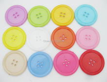 NBNNWG 38MM dress buttons 50pcs multicolors 4-holes large button 1.5 Round DIY decorative Botoes