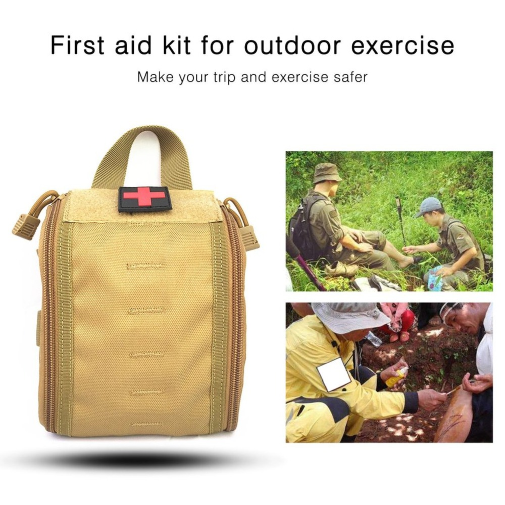 OUTAD Outdoor Sport Medical Bag Tactical First Aid Kit Multifunctional Pack Emergency Survival Empty Bag For Travel Camping first aid kit outdoor travel trauma emergency treatment waist bag tactic style