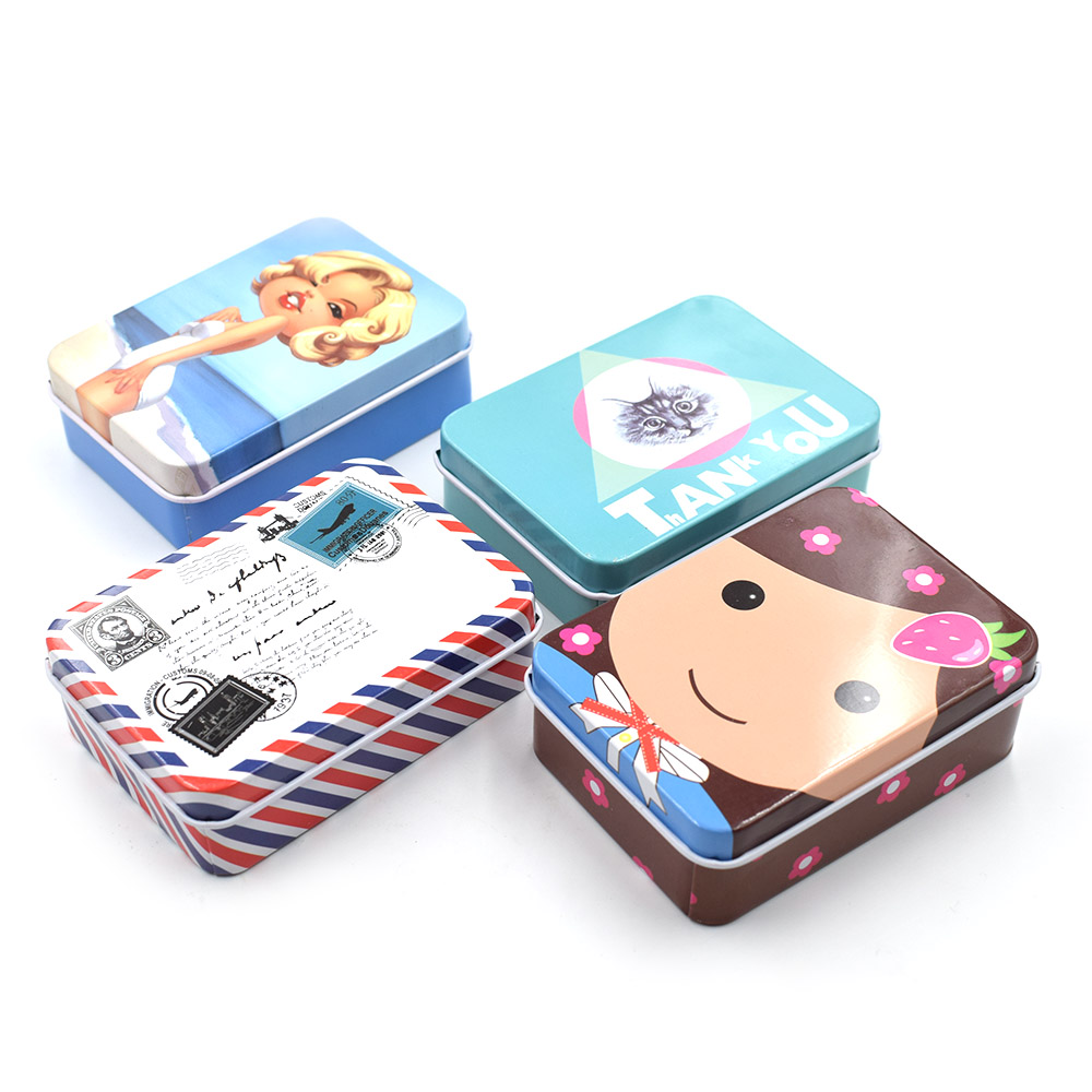 4 PCS/IOT. Metal storage box. Cartoon candy collection. Sewing kit. accessories. containers. case