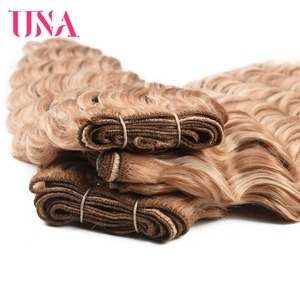 Image 5 - UNA שיער טבעי עמוק גל חבילות מראש בצבע הודי ערב שיער 1/3/4 חבילות הודי שיער חבילות רמי שיער טבעי הרחבות