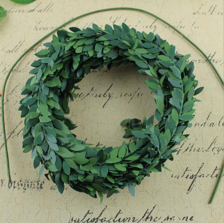 7.5M Artificial rattan Wire Stem Leaves Vine Flower Garland for fall Wedding Party Christmas Decoration DIY wreath accessories