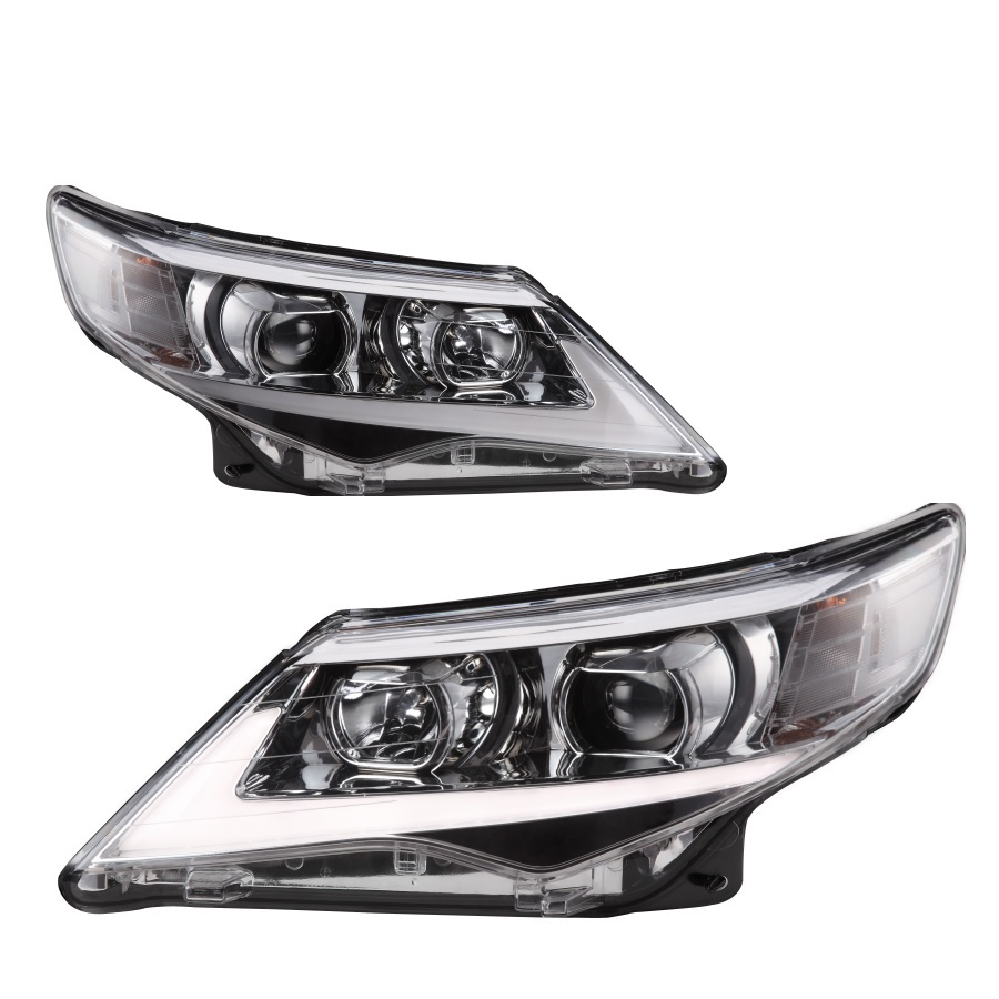 Pair Of Car Headlight Assembly For TOYOTA CAMRY 2012-UP Tuning Headlight Lamp Parts Daytime Running Light Bi Xenon project lens universal pu leather car seat covers for toyota corolla camry rav4 auris prius yalis avensis suv auto accessories car sticks