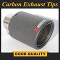 1 шт. на входе (63 мм) на выходе (89 мм) Akrapovic углеродный наконечник выхлопной трубы/Глушитель Трубы для BMW BENZ AUDI VW автомобильные аксессуары
