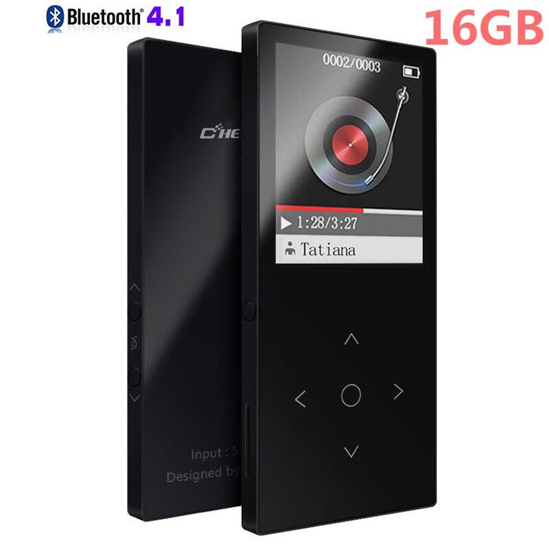 הכי חדש גרסת 16 gb HiFi Bluetooth MP4 נגן מגע כפתור Lossless מוסיקה נגן מקליט קול/FM רדיו להרחבה עד כדי 64 gb