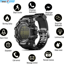 Time Owner Bluetooth Clock EX16 Smart Watch Notification Remote Control Pedometer Sport Watch IP67 Waterproof Men's Wristwatch