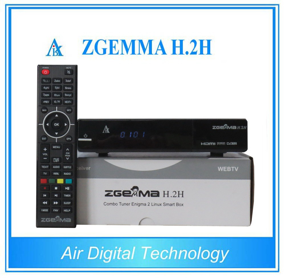 10pcs New Version Zgemma H.2H Dual Core Combo DVB-S2+DVB-T2/C Hybrid USB WIFI Linux E2 HBBTV Receiver 10pcs zgemma star i55 support satip iptv box bcm7362 dual core mainchipset 2000 dmips cpu linux enigma 2 hdmi connection