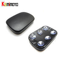 KEMiMOTO rear passenger pad 6 Suction Cups Pillion Pad Suction Seat For Harley Dyna Sportster Softail Touring XL 883 Motorcycle