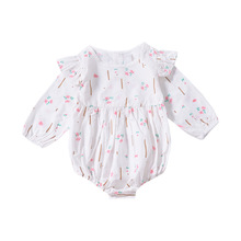 Child Women Floral Bodysuit Toddler Child Spring Autumn Cotton Garments Vogue Clothes Present