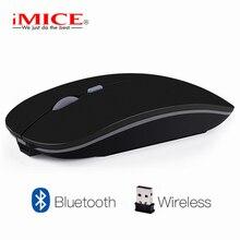 Imice Перезаряжаемые беспроводная мышь 2400DPI Точек на дюйм slient USB компьютерная мышка 2.4G встроенный литиевый Батарея мышь беспроводная для портативных ПК