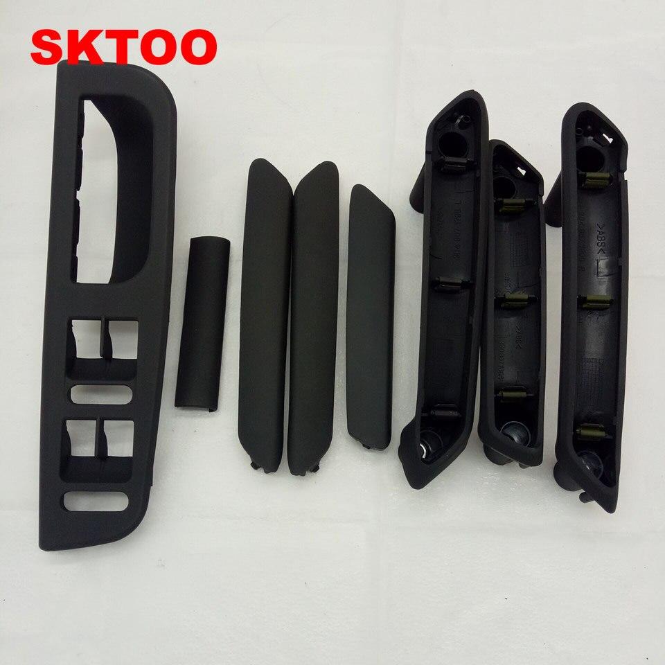 € 23.53 29% de réduction|SKTOO poignée de porte intérieure noire avec  garniture 3B0867172 3B4867372 pour VW Passat B5 3B4867179A, 3B4 867 179A,  ...