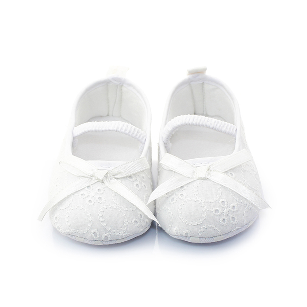 White Butterfly knot Hollow Knitting Slip on Newborn Baby Christening Baptism Princess Shoe Baptism Socks For 0 12M Wholesale in First Walkers from Mother Kids