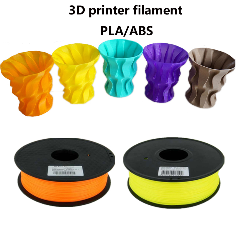 ФОТО Good quality 3d printer filament PLA/ABS 1.75mm/3mm 1KG wholesale price by DHL and Fedex IE Free Shipping