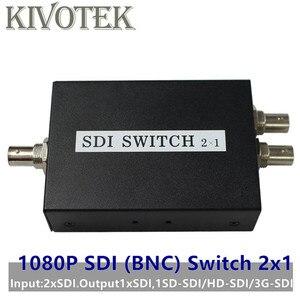 Image 1 - SDI Anahtarı 3G/HD/SDI 2x1 Switcher ile BNC Dişi Destek 1080P Dağıtım Genişletici projektör için monitörlü kamera Ücretsiz Kargo