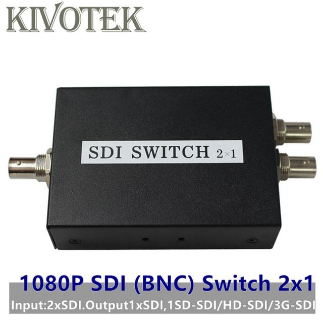 SDI Anahtarı 3G/HD/SDI 2x1 Switcher ile BNC Dişi Destek 1080P Dağıtım Genişletici projektör için monitörlü kamera Ücretsiz Kargo