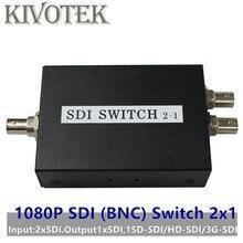 SDI Chuyển Đổi 3G/HD/SDI 2x1 Switcher BNC Nữ Hỗ Trợ 1080P Phân Phối Bộ Mở Rộng dành cho Máy Chiếu Màn Hình Máy Ảnh Miễn Phí Vận Chuyển