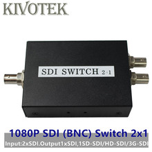 SDI Switch 3G/HD/SDI 2x1 Switcher con BNC hembra soporte 1080P extensor de distribución para la cámara del Monitor del proyector envío gratis