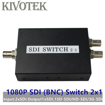 SDI Switch 3G/HD/SDI 2x1 Switcher with BNC Female Support 1080P Distribution Extender for Projector Monitor Camera Free Shipping 4 port sdi splitter amplifier sdi hd sdi 3g sdi 1x4 splitter distributor 1080p with power adapter for tvs cameras