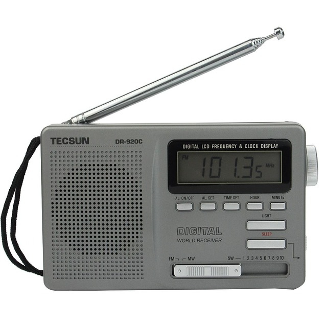 DR-920C Радио FM MW SW 12 Группа Радиоприемник TECSUN Цифровой Радио-Будильник и Подсветкой Y4139H