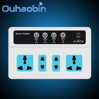 Ouhaobin اللاسلكية pda gsm sim التحكم عن 4 مأخذ الطاقة مأخذ التبديل الذكية هدية أكتوبر 18 دروبشيب