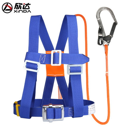 High-altitude operations belt air conditioning installation Five points belt outdoor construction safety belt safety rope blueHigh-altitude operations belt air conditioning installation Five points belt outdoor construction safety belt safety rope blue