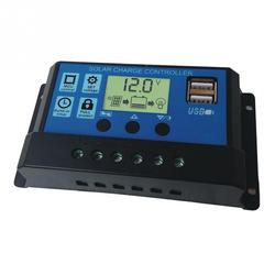 10/20/30A Dual USB Solar Battery Painel Regulador Controlador de Carga 12/24V