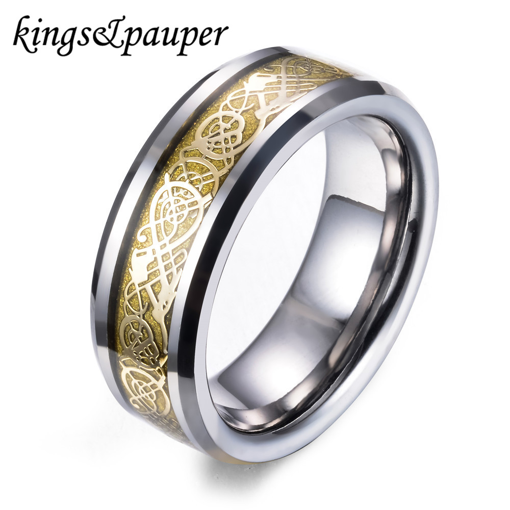 new black band unisex carbide nordic pattern s mens silver men luxury in celtic deep dramatic women rings wedding dragon jewelry blue sz inlay tungsten over ring products affordable