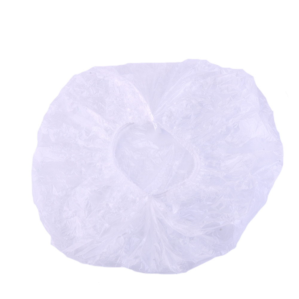 Hot 100pcs/pack Disposable Hat Hotel One-Off Elastic Shower Bathing Cap Dustproof and Waterproof Clear Hair Salon Wholesale