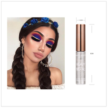 HERES B2UTYBrand New 8 Colors White Gold Glitter Eyeshadow For Easy to Wear Waterproof Liquid Eyeliner Beauty Eye Liner Makeup