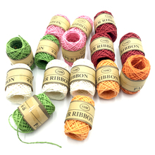 8 Rolls / Lot 2MM 10Meter Paper Rope DIY Hand-Woven Colorful Color Ropes for Gift Packing Birthday Party Decorations