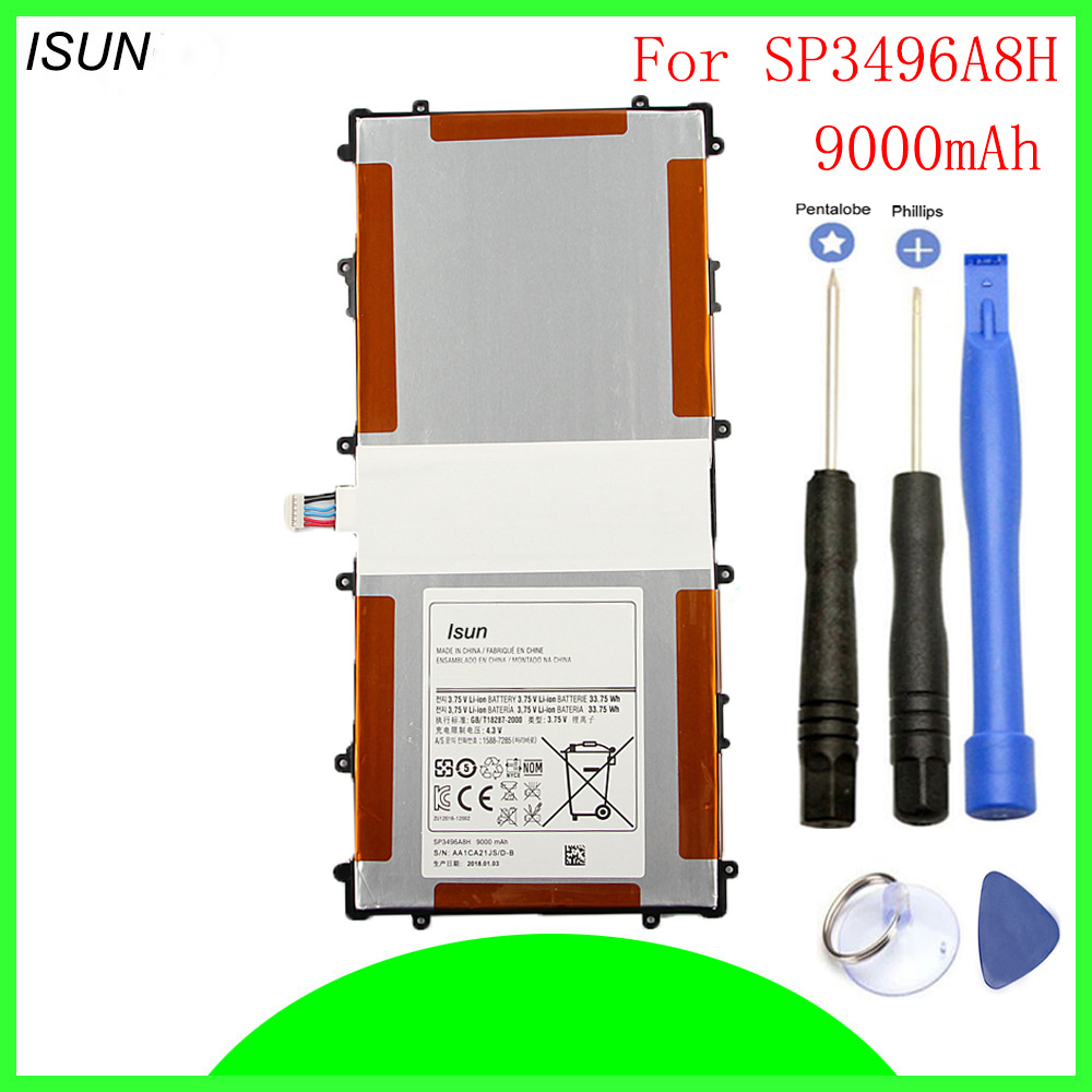 Replacement-Battery P8110 Sp3496a8h-Batteries Nexus Samsung For With Repair-Tools ISUN