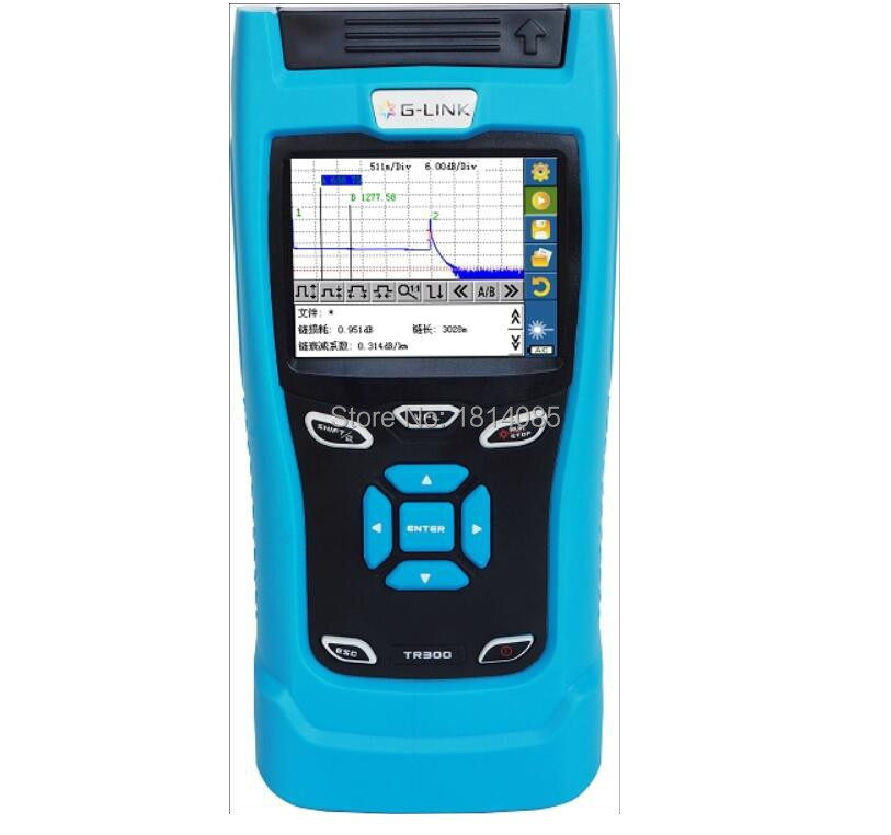 Handheld OTDR TR303 SM OTDR 1310/1550nm, 30/28dB,Integrated VFL, Touch Screen 120KM Optical Time Domain Reflectometer VFL ...