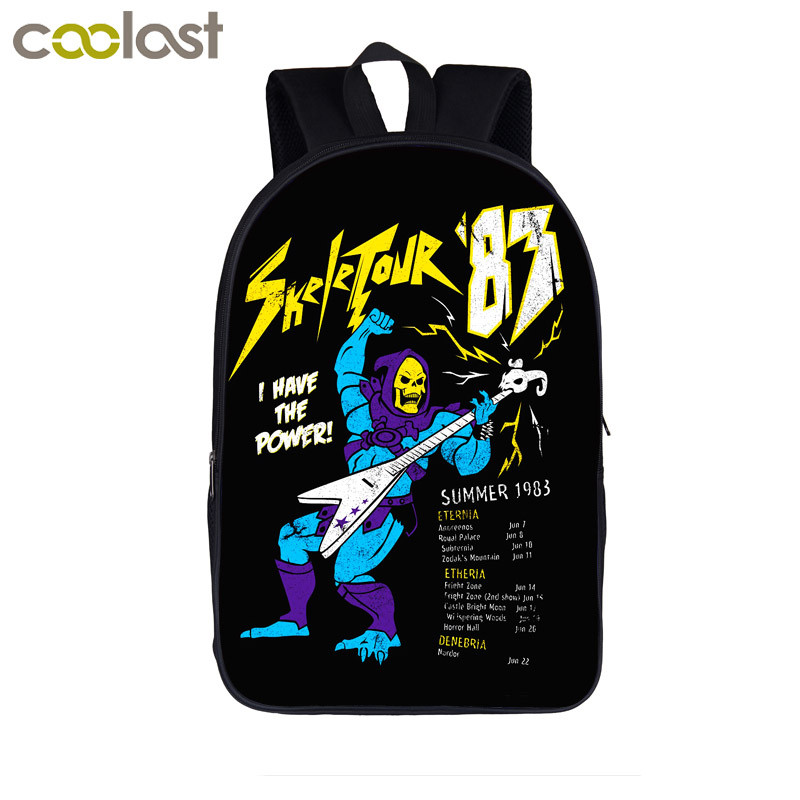 Heavyy Metal School Backpack for Teenagers Girls Boys Bookbag Rock Skull Men Travel Bags mochila mujer 2018 Dark Gothic Bagpack