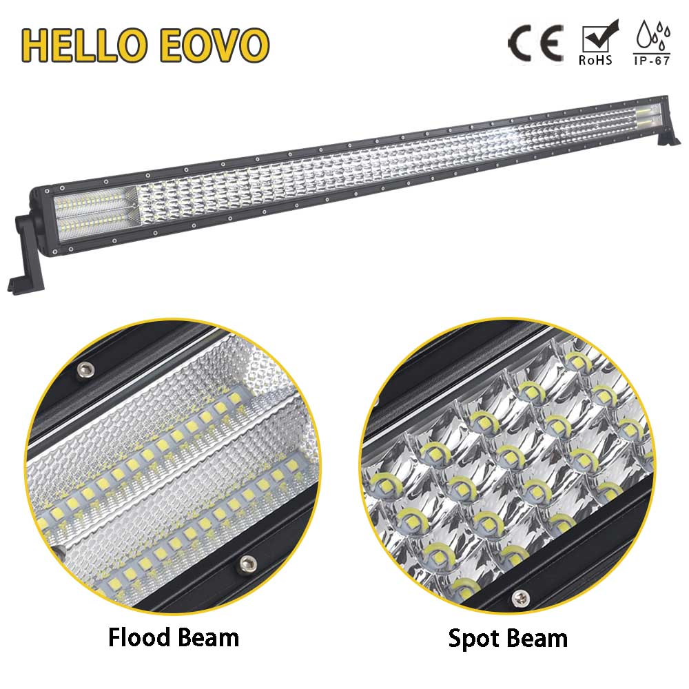 HELLO EOVO LED Bar 4 Rows 52 inch LED Light Bar for Work Indicators Driving Offroad Boat Car Tractor Truck 4x4 SUV ATV 12V 24v hello eovo 22 inch led light bar for off road indicators work driving offroad boat car truck 4x4 suv atv fog combo 12v 24v