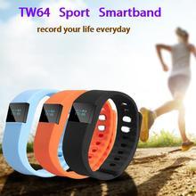 Смарт-группы tw64 фитнес-трекер bluetooth браслет смарт-шагомер для iphone android xiaomi телефон pk mi группа cicret браслет