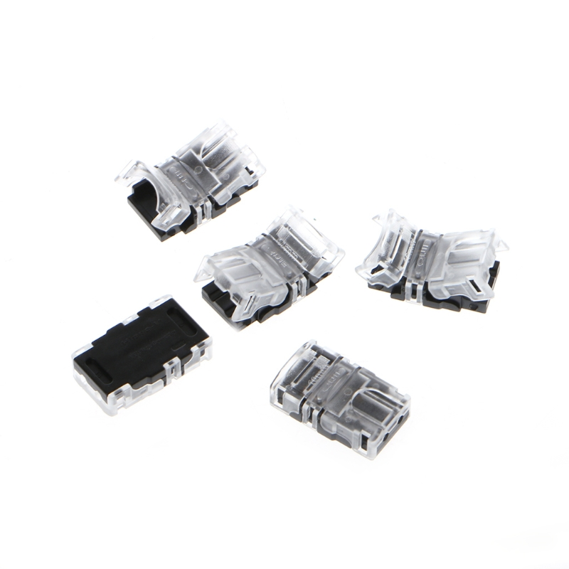 5Pcs/Bag 10mm 5050 LED Strip Connector 2 Pin/ 4 Pin/ 5 Pin for Waterproof Single Color Tape Light Snap Splicer 5pcs 2 pin 4 pin led strip connector for smd 8mm 10mm 3528 5050 rgb single color ip65 54 waterproof led tape light to wire joint
