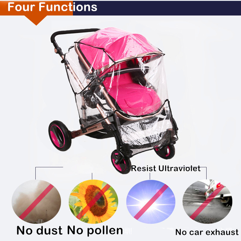 Image 4 - Twin Babies Cart stroller umbrella Water proof Before And After Rain Wind Pushed A Chair Dust Cover Baby Cart YUJU27LL-in Strollers Accessories from Mother & Kids
